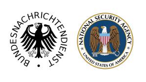 Logos von BND und NSA ©BND/NSA