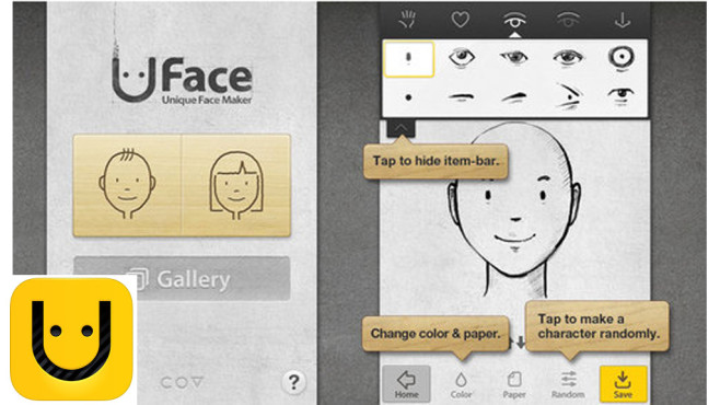 Uface � Unique Face Maker © covworks