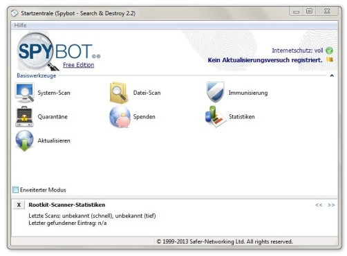 Spybot � Search & Destroy © COMPUTER BILD