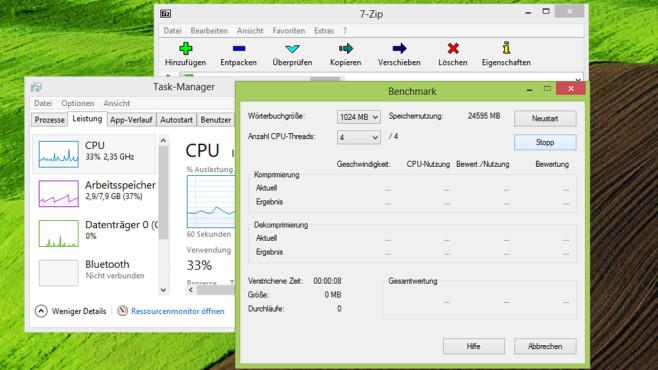 7-Zip: Packer inklusive Belastungsfunktion ©COMPUTER BILD