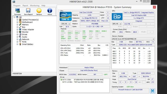 HWiNFO32, HWiNFO64: Hardware optimal unter die Lupe nehmen ©COMPUTER BILD
