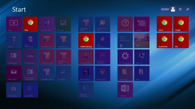 Windows 8: Webseiten per Kachel-Oberfläche öffnen Standardmäßig verweigert es Windows 8, Webseiten an die Start-Oberfläche zu heften. COMPUTER BILD zeigt, wie es trotzdem geht. ©COMPUTER BILD