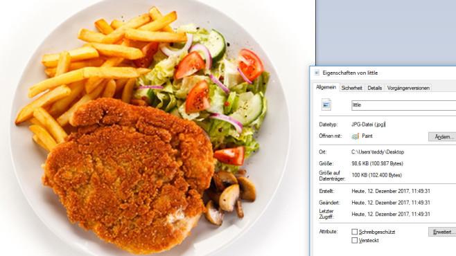 Deutlich gestaucht in Richtung Postkarten-Format ©Fotolia--Jacek Chabraszewski-Fried pork chop, French fries and vegetables
