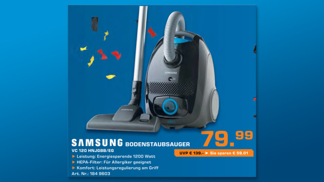 Samsung VC 120H ©Saturn