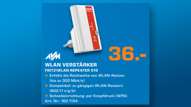 AVM WLAN Repeater 310 © Saturn