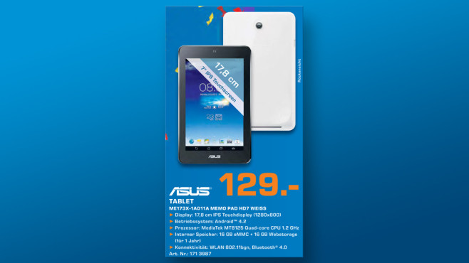 Asus MeMO Pad HD 7 16GB © Saturn