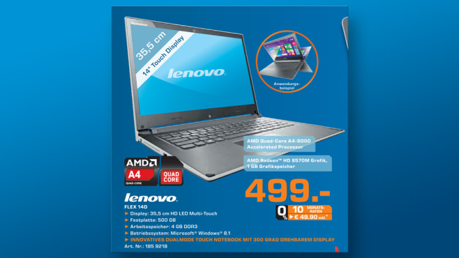 Lenovo IdeaPad Flex 14D © Saturn