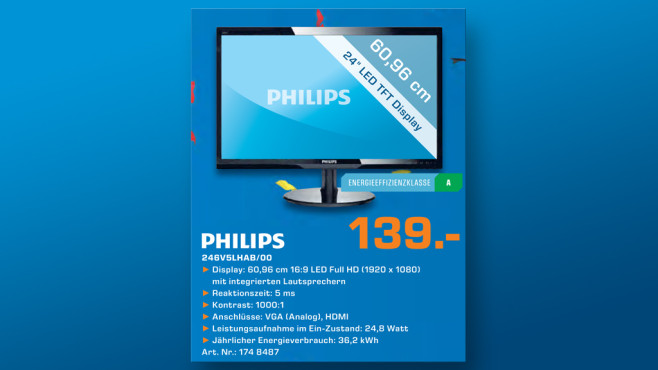 Philips 246V5LHAB © Saturn