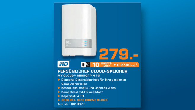 Western Digital My Cloud Mirror 4 TB © Saturn