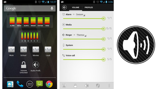AudioManager Pro (1,99 Euro) © Smart Android Apps, LLC