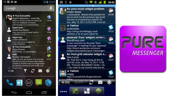 Pure Messenger Widget ©Francois DESLANDES