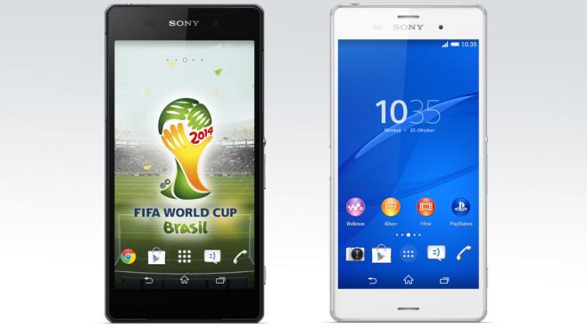 Sony Xperia Z2 vs Sony Xperia Z3 ©Sony