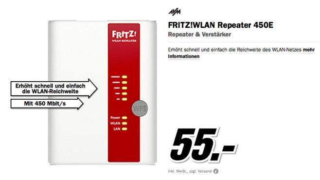 AVM FRITZ!WLAN Repeater 450E © Media Markt