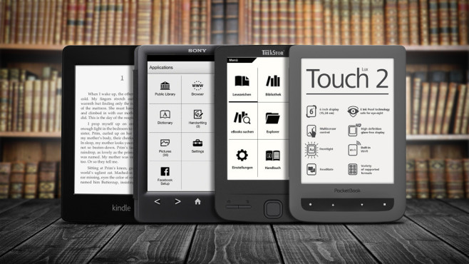 eBook-Reader: Test der aktuellen Bestseller © Sony, Trekstor, Amazon, PocketBook