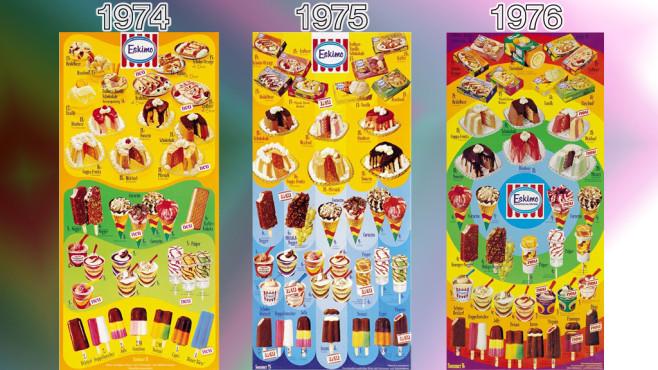 Eistafeln von Eskimo: 1974 - 1976 ©Eskimo, Unilever
