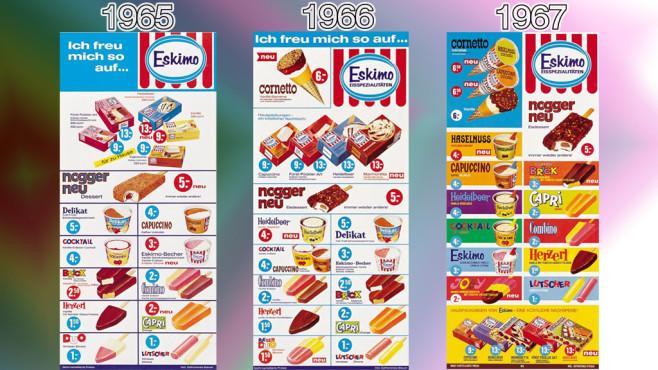 Eistafeln von Eskimo (Langnese): 1965 - 1967 ©Eskimo, Unilever