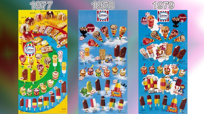 Eistafeln von Eskimo (Langnese): 1977 - 1979 ©Eskimo, Unilever