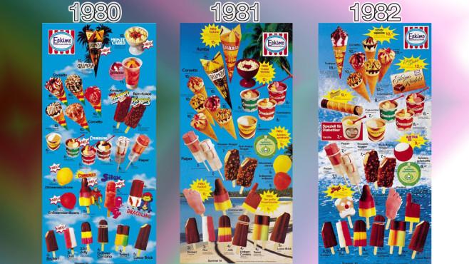 Eistafeln von Eskimo (Langnese): 1980 - 1982 ©Eskimo, Unilever