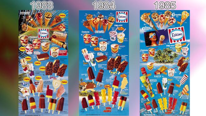 Eistafeln von Eskimo (Langnese): 1983 - 1985 ©Eskimo, Unilever