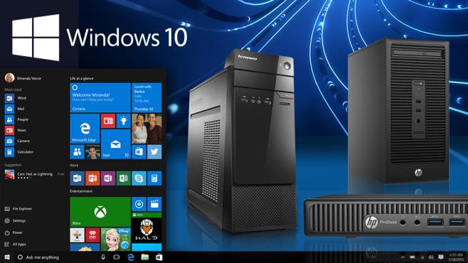 Windows-10-PCs unter 555 Euro ©Microsoft, Lenovo, Dell, HP, Asus