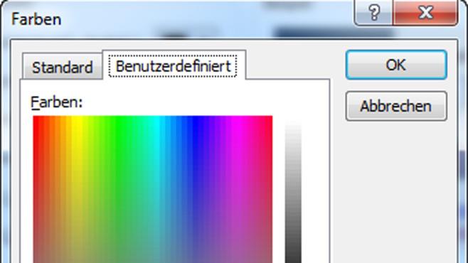 Eigene Farben sichern ©Microsoft/COMPUTER BILD