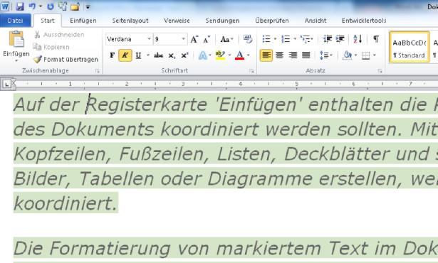 Frühere Textposition ©Microsoft/COMPUTER BILD