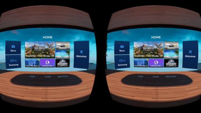 Samsung Gear VR: Men� ©Samsung, Oculus, COMPUTER BILD