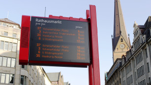 Anzeigetafel des HVV ©Hamburger Verkehrsverbund