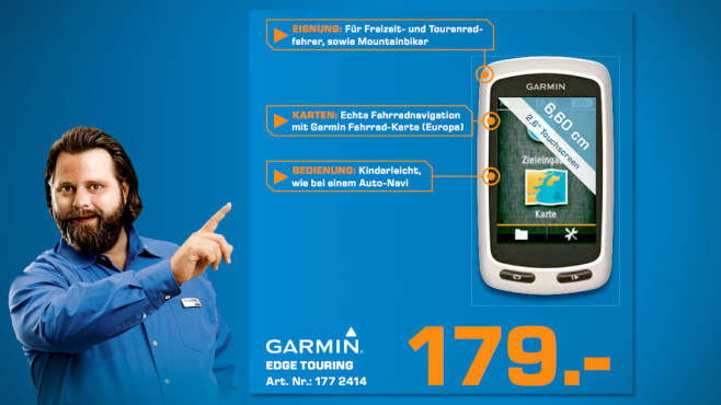 Garmin Edge touring © Saturn