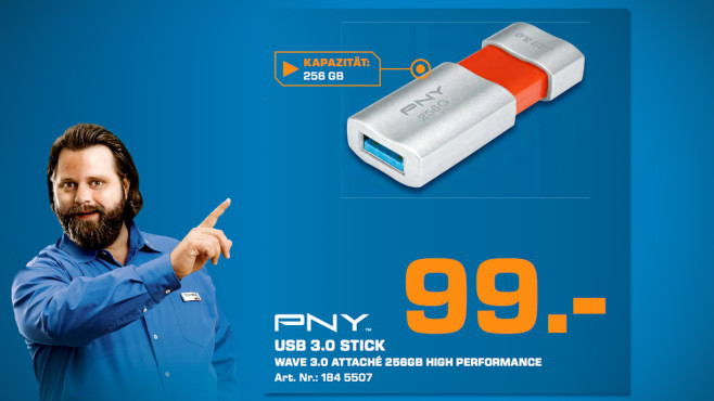 PNY Wave Attaché USB 3.0 256GB © Saturn