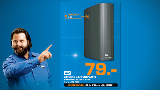 Western Digital Elements Desktop 2TB © Saturn