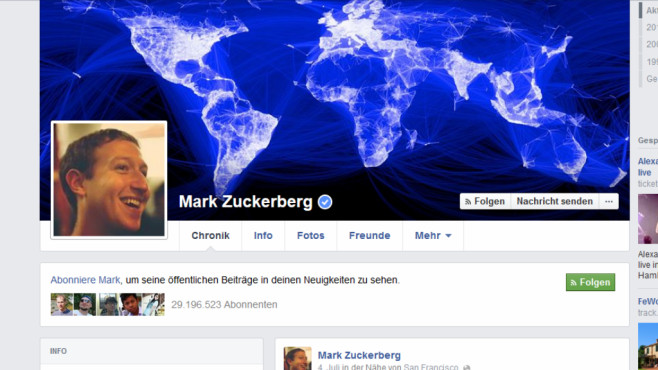 25 skurrile Internet-Fakten © Facebook, Mark Zuckerberg