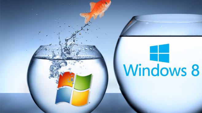 Wechsel leicht gemacht: So steigen Sie um von Windows 7 auf 8.1 Beim Umstieg auf Windows 8.1 gibt es vieles zu beachten. COMPUTER BILD schafft Klarheit. ©Microsoft, RFsole – Fotolia.com