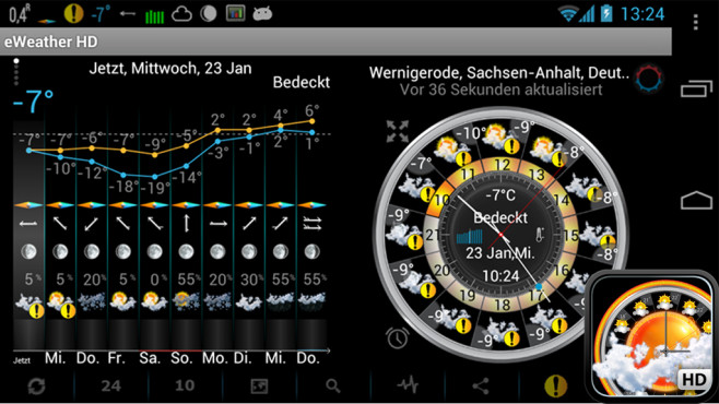 eWeather HD © Elecont software