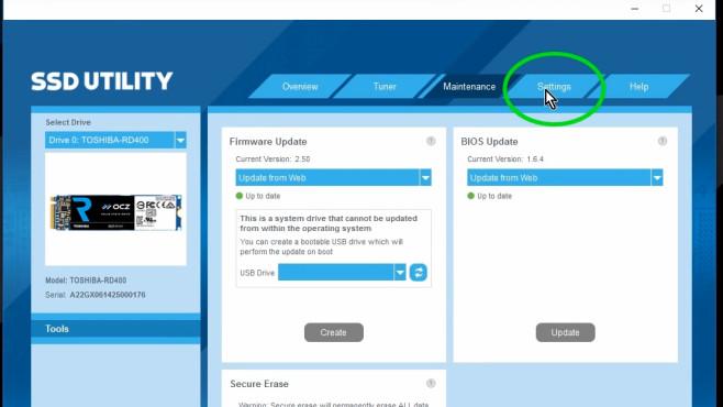 OCZ Toolbox: Firmware aktualisieren ©COMPUTER BILD