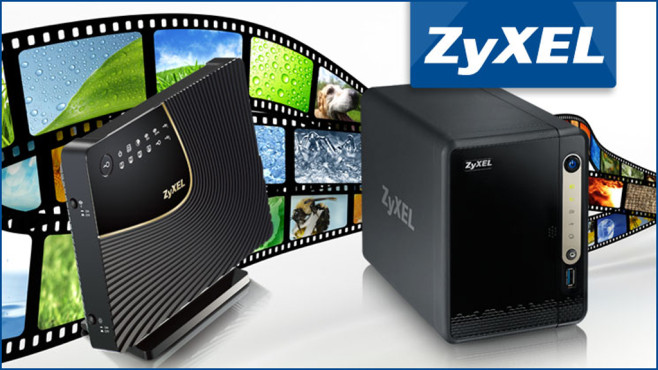 Tagespreis vom 29. Juli 2014: 2 x Simultaneous Dual-Band Wireless AC1750 HD Media Router + 2-Bay Power Plus Media Server © ZyXel