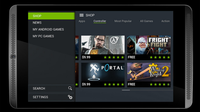 Nvidia Shield Tablet: Front © Nvidia