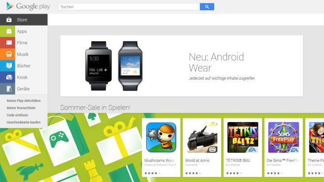 Google Play Store ©Screenshot � Google/COMPUTER BILD