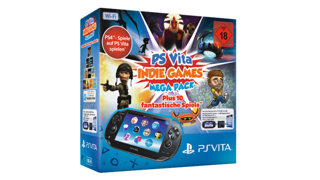 Sony PlayStation Vita Wi-Fi + PS Vita Indie Games Mega Pack + Memory Card 4 GB © Media Markt