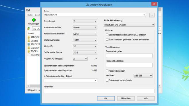 7-Zip: Dateien komprimieren ©COMPUTER BILD