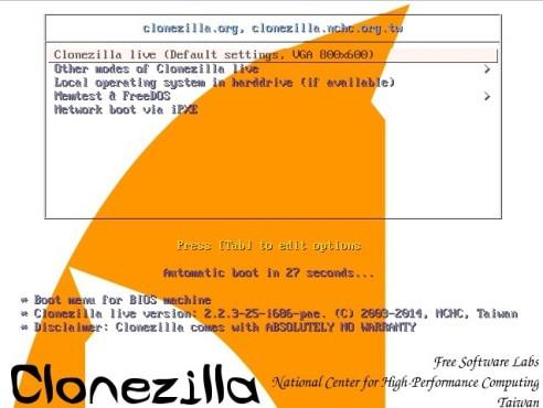 Clonezilla: Festplatte komplett sichern ©COMPUTER BILD
