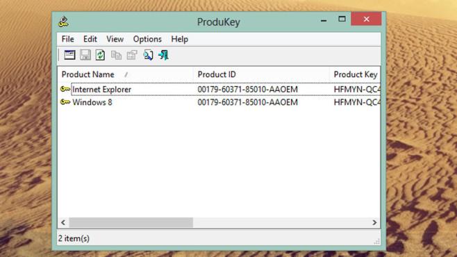 ProduKey: Windows-Seriennummer auslesen ©COMPUTER BILD