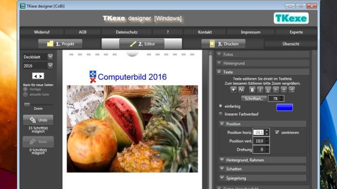 TKexe Designer: Fotokalender entwerfen ©COMPUTER BILD