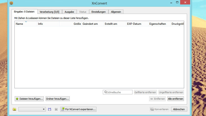 XnConvert: Dateiformat von Bildern ändern ©COMPUTER BILD