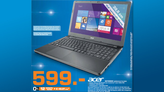 Acer Aspire E5-571G-50K9 ©Saturn