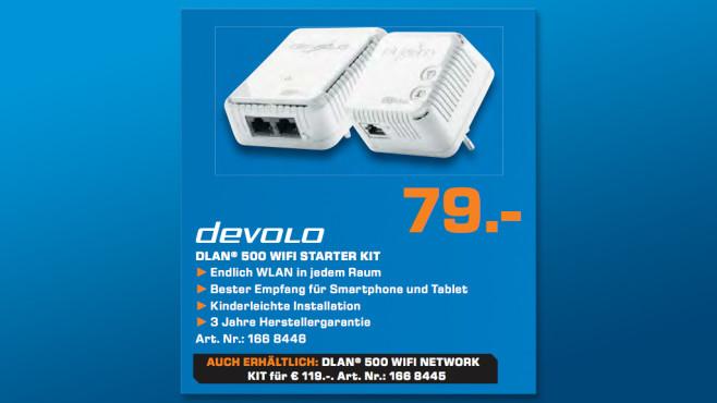 Devolo DLAN 500 WiFi Starter Kit ©Saturn