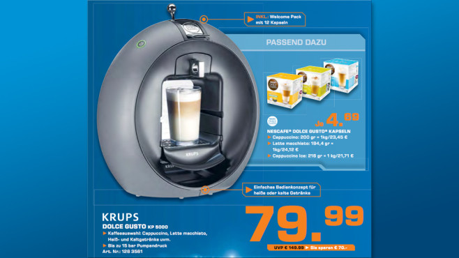 Krups Dolce Gusto KP 5000 © Saturn