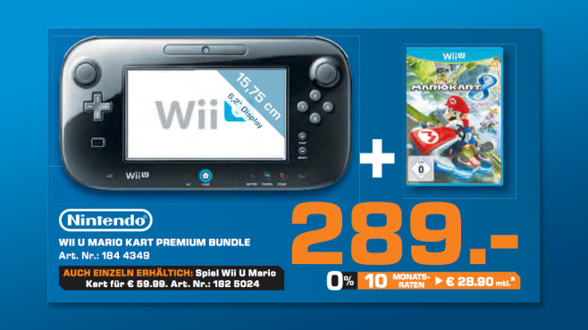 "Nintendo Wii U ""Mario Kart""-Premium-Bundle ©Saturn"