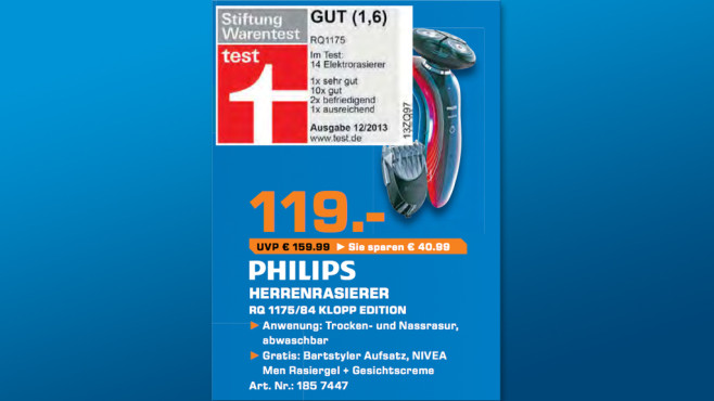 Philips RQ 1175/84 Klopp Edition ©Saturn