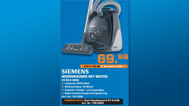 Siemens VS 06 G 2200 ©Saturn